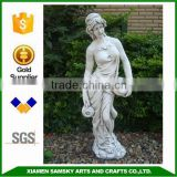 garden life size fiber clay lady statue