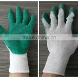 10 gauge cheap polycotton liner latex coated safety hand gloves