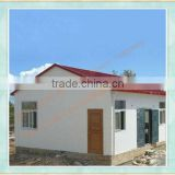 prefab cottage/villa with sandwich panel and light steel frame, simple style, attractive shape