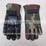 Full Fingers Gloves Cotton Cammo with plastic protector, paintball,Sports , PayPal Available
