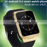 Android smart watch phone 2015 Newly- 3 G /android 4.4/ gps/wifi /1.54 inch screen