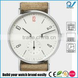 classic women watch automatic movement two hand with second hand dial made in germany tan strap watch