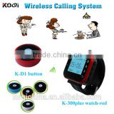 Alpha numeric watch pager wireless restaurant tea house call waiter server Pager Service System