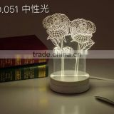 Hot selling 3D doraemon led light table decoration for children writing table lamp