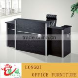 popular fashion high quality modern aluminum decoration wooden company front table reception desk factory reception table
