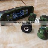 Universal Wireless LCD Solar Power Tire Pressure Monitoring System internal TPMS with solar