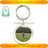 promotional clear custom key chain souvenir plastic frame key chain picture insert logo keyring acrylic keychain photo