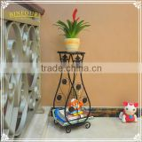 flower vase shape planters wrought iron plant stand for home deco