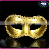 Wholesale PVC Colorful Wedding Masks Half Face Flat Head Paiting Party Mask 6Colors FOR your Choice