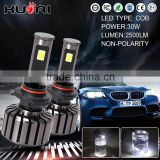 car accessories shops conversion kits 9006 cob h1 h3 h4 h7 h11 9005 for car led light, 2500lm 30w 9006 car led headlight
