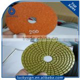 Various grit marble stone polishing pads,3m 3inch wet polishing pad factory