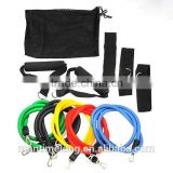 11pcs/set Latex Resistance Bands Fitness Exercise Elastic Training Tube Rope Yoga Pull Rope ABS Workout Cordages