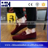 Hot Sales Casual Red Shoe Fashion Velvet Loafers Men