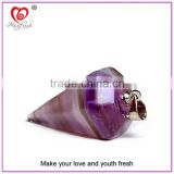 Natural Quartz Crystal Point Pendant Customized Gemstone Beads Amethyst Cone and Crystal Merkaba Pendants - Gemstone Pendants