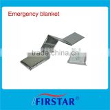 Gold or silver thermal foil emergency blanket