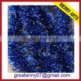 manufacturing christmas decorations glitter tinsel blue xmas tinsel for sale