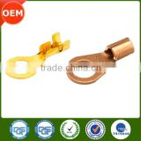 Bending process custom brass wire terminal,wire fuse iron and brass terminal,hot-sale special brass ring terminal lug