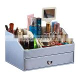 Fashion cosmetics bo leather dresser leather jewelry bo multifunction cosmetic desktop storage bo