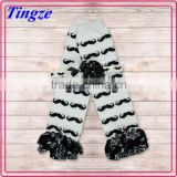 Fashion Children Accessory Cute Print Baby Leg Warmers/Leggings/Socks With Matching Headband Knitted Leg Warmers Set