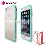 Promotion new crystal bumper series clear impact-resisistant case cover with a hard back for apple iphone 6