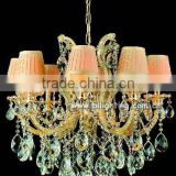 Maria theresa pink shade crystal chandeliers in dubai