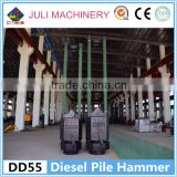 China manufacturer sell DD series DD55 rod type diesel pile hammer for South-east Asia countries foundation project