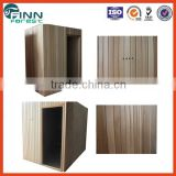 1.5*1.5*2.05m Hemlock/Cedar/ Abachi wood Famliy use traditional dry steam wooden sauna cabin sauna house
