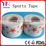 Adhesive print cloth sports tape printed with CE FDA approved