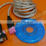 Wholesale price usb 2.0 to rs232 db9 pin serial adapter cable dsc02002