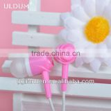 ULDUM 2013 two sound outlet super silicone plastic earphone and headphone with mic for calling up and listening to music