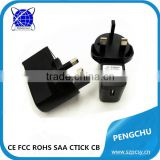 BS Standard Travel USB Charger/Power Adapter for Mobile Phones