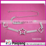 fashion ladies star chain metal belt with rhinestones