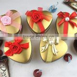 Chinese Factory Supplier High Quality Heart Tin Candy Box Wedding Favors