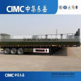 Tri axle side wall high bed trailer with semi trailer door