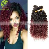 no shedding and tangle free hair bulk mongolian kinky curly remy hair weave Artificial hair integrations