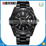 CURREN/CW028 Fashion CURREN Watches Full Black Top Brand Analog Military male Watches Men Sports army Watch Waterproof Relogio