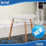 Modern design white triangular restaurant MDF coffee side table S005                                                                         Quality Choice
