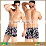 Summer Printed Soft Cozy Spandex Nylon Beach Shorts Swimwear For Men