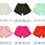 New Hot Sell!! Baby hot stamping gold point shorts Hot stamping of pure cotton ball PP pants