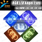 2014 super bright auto light led car rgb angel eyes 5050smd multicolor rgb angel eye ring for BMW E36 E38 E39 E46 with projector