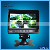 7 inch car tv monitor with usb for cctv system camera with sunvisor 4 channels video inut