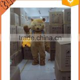 2015 hot sale cheap adult plush teddy bear mascot costume / plush teddy bear cartoon costume for promotion