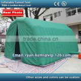 6.8m Inflatable tunnel tent with door inflatable car garage tent outdoor inflatable party tent with CE blower