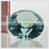 Blue Crystal Fake Diamond Paperweight For Wedding Decoration