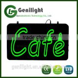 LED Open Display Sign Cafe Shop Bar Pub Light with Power Cable