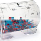"21.5""w Acrylic Raffle Drum with Locking Door, Countertop - Clear"