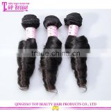 New arrival factory quality unprocessed romance curl weave bohemian remy human hair extension