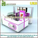 high quality customized mobile mall fast food kiosk design / ice cream kiosk design in mall for sale