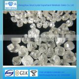 China pure white color HPHT CVD synthetic rough diamond sellers