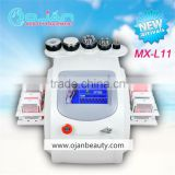 6 in 1 Vacuum RF facial RF body RF laser slimming Lipo vavitation Vacuum suction beauty machine